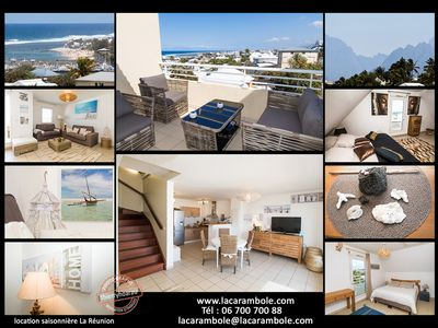 Photo for Saint Pierre, Holy Land, spacious apartment T3 Duplex fully air-conditioned