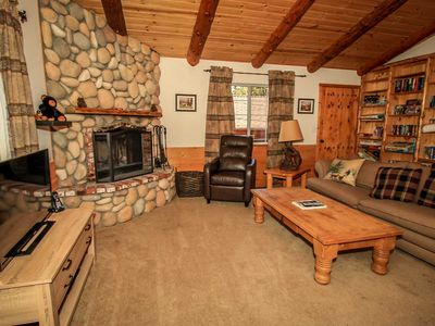 Photo for *WALK TO LAKE LOG CABIN CHALET~Hot Tub~Gas BBQ~