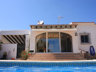 Photo for Spanish style villa, 5 to 6 p, family-friendly, lots of privacy, beautiful views