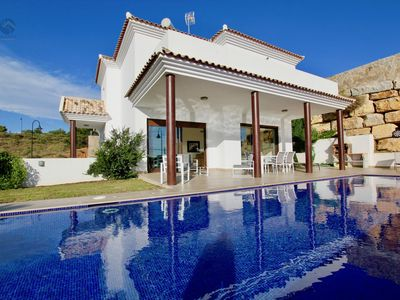 Photo for Villa Clavela - Newly Built 3BR Villa in 10 mins Walk to the Beach in la Cala, Sea Views, Pool
