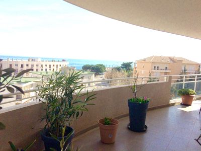 Photo for Bastia, Appart stand 4 people 2 bedrooms 2 bd 2 wc wifi air conditioning terrass sea view