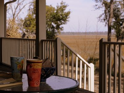 Photo for Central location for Parris Island, Hilton Head, Beaufort; pet-friendly, marsh!