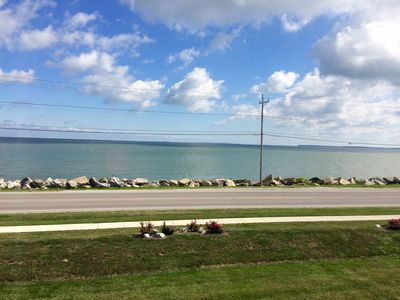 Our gorgeous Lake Erie & islands view! Lake breezes and soothing waves to relax!