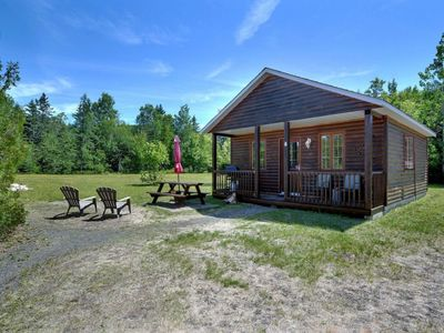 Photo for Beautiful cottage in Val-David - Log house #6