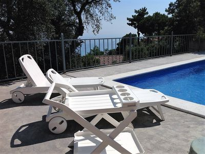 Photo for Sea view villa, private pool, residential area, family friendly, Wi-Fi