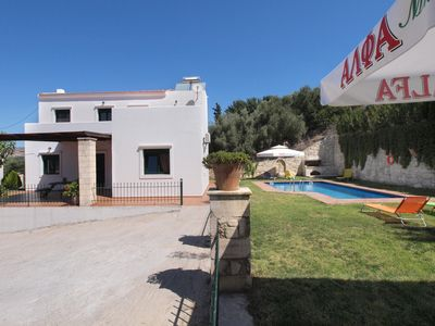 Photo for A villa with private pool, located in the traditional village of Vrises