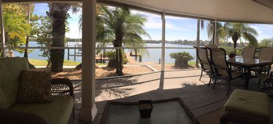 Enjoy this peaceful view from the screened in lanai.