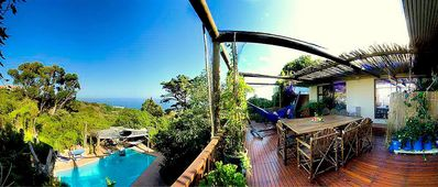 Photo for MAIN HOUSE (A)- CAMPSBAYGLEN - STUDIO A . Easy to beach, Big Pool, rustic nature