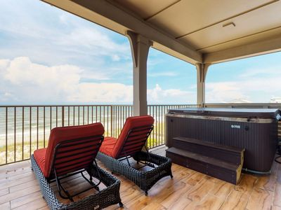 Photo for Oceanfront & dog-friendly home w/beach access, private hot tub