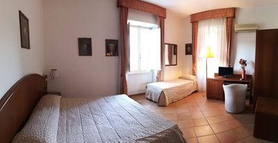 Photo for Spacious triple room in villa near Metro C and PTV 20 min from Rome center