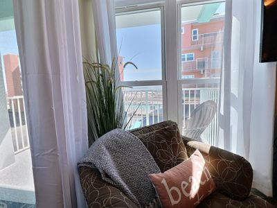 Photo for NEW RENTAL: Lazy Dayz II STEPS TO THE BEACH with private balcony