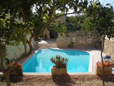 One of the largest private swimming pool on the island of Gozo.