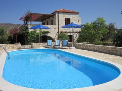Photo for Almirida - Luxury villa with private pool and sea view