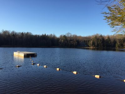 Photo for LAKE FRONT!! Family Friendly Retreat Minutes from all Popular Pocono Attractions