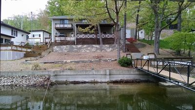 Photo for Family Friendly 3 BR/2 Bath Lakefront Home in Quiet NO Wake Cove w/ Boat Dock