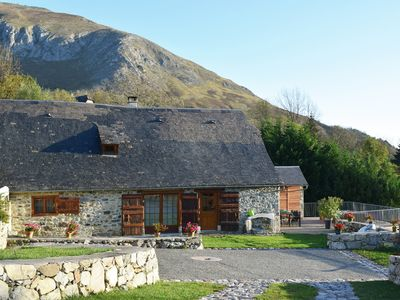 Photo for Mountain barn, character cottage in Val d'Azun Pyrenees, outdoor Spa
