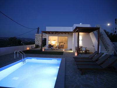 Photo for Villa in kamilari, Heraklion and surroundings sea and mountain view and private pool