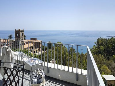Photo for holiday vacation apartment rental italy, sicily, taormina, view, seaside, air conditioning, short term long term sicilia