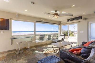 This is your 15ft wide window to the beach & waves of the Mighty Pacific Ocean!