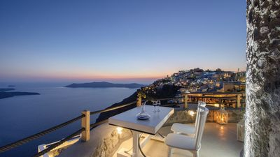 Photo for Villa Windmill, Caldera Imerovigli, Santorini Heated Jacuzzi upto 4guests