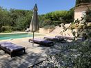 The pool and sun terrace are ideal for lazy days at the villa
