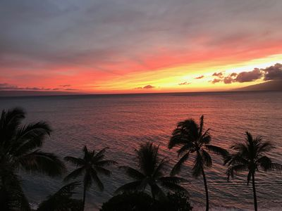 A sunset view from our patio lanai taken by one of our guests.