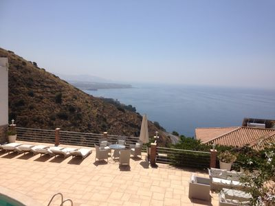 Photo for Relax & enjoy the beautiful seaviews! Spacious & sunny villa with private pool!