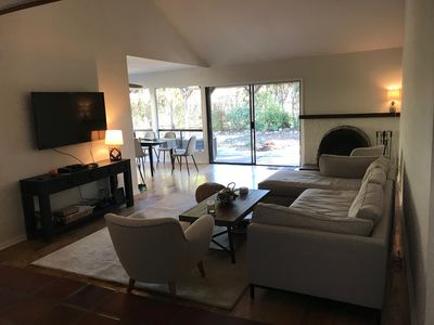 Photo for Newly-renovated stunning getaway, walk to town, garden, mountain views