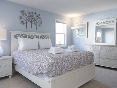 master bedroom with ensuite bathroom on the main floor