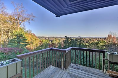 Breathe in the fresh air from the deck.