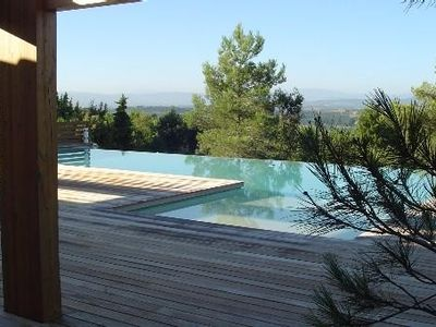 Photo for Contemporary architect villa standing large pool, view 7 km Carcassonne