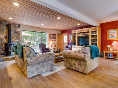 Photo for Spacious retreat, right across the street from Lake Tahoe!