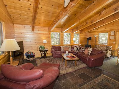 Photo for Timber: 3 BR / 2 BA house/cabin in Tahoe City, Sleeps 6