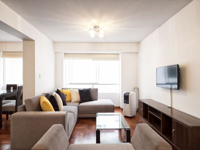 Photo for Miraflores- Comfortable Apartment  two blocks away from Larco Ave, Kennedy park.