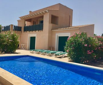 Photo for New, detached holiday home, just 900 meters from the beach, with pool