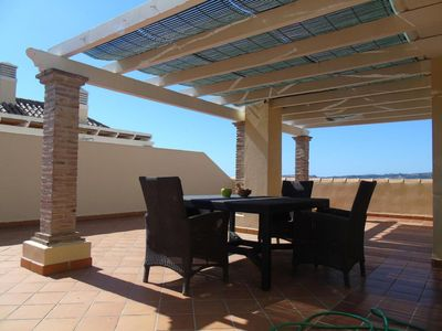 Photo for Spacious Baviera Luxury apartment in Caleta de Velez with air conditioning, private parking, privat…