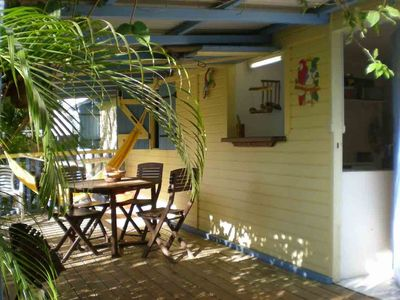 Photo for T2 INDIANA air-conditioned, DESHAIES 350 m Grande Anse, 2/3 people, large terrace.