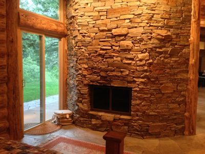 Enjoy the warmth of the fire all night with the Master bedroom facing fireplace