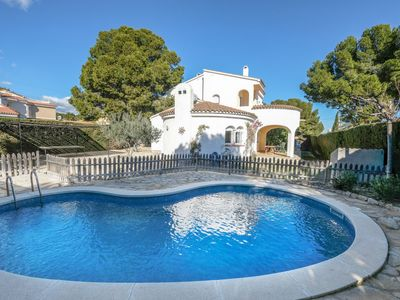 Photo for 5 bedroom Villa, sleeps 10 in Las Tres Cales with Pool and WiFi