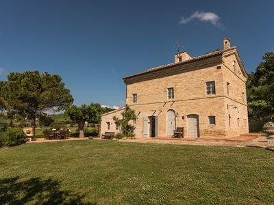 Photo for Beautifully restored farmhouse with saltwater pool & stunning views