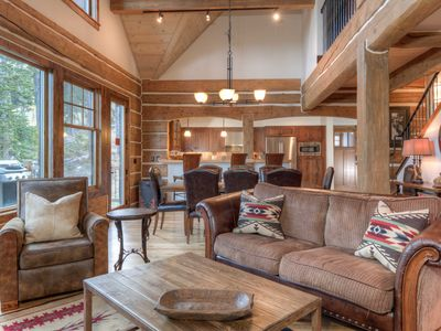 Photo for This Luxury Cabin Has it ALL. Location, Firepit, Views, Ski Access, & Hot Tub!