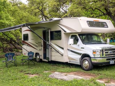 Photo for Use a motorhome to house your extended company!