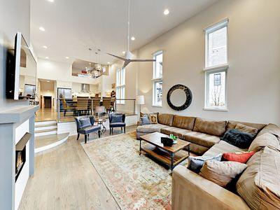 Living Room - Welcome to Nashville! Your luxury townhome is professionally managed by TurnKey Vacation Rentals.