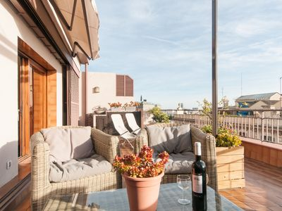 Photo for 1 bedroom private rooftop terrace with Free Wi-Fi