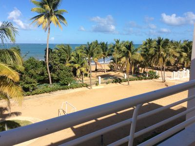 Photo for Beachfront Apartment with  Terrace Overlooking the Ocean