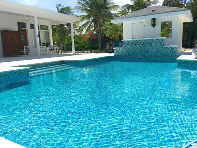 Photo for New to VRBO!  Short 4 min walk to Beach !! Large Pool with Tanning Shelf