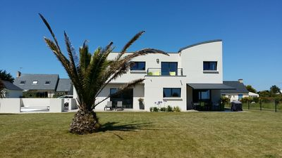 Photo for Superb contemporary villa, ranked 5 * with heated pool near the beaches