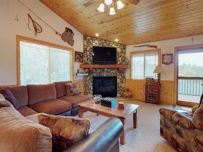 Photo for NEW LISTING! Western style cabin w/free WiFi, fireplace, cable & near ski resort