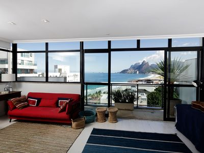 Photo for Rio069 - Beautiful 3 bedroom penthouse in Ipanema