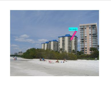 Yes, we face the Gulf! Our condo is steps from a beautiful sugar-sand beach.